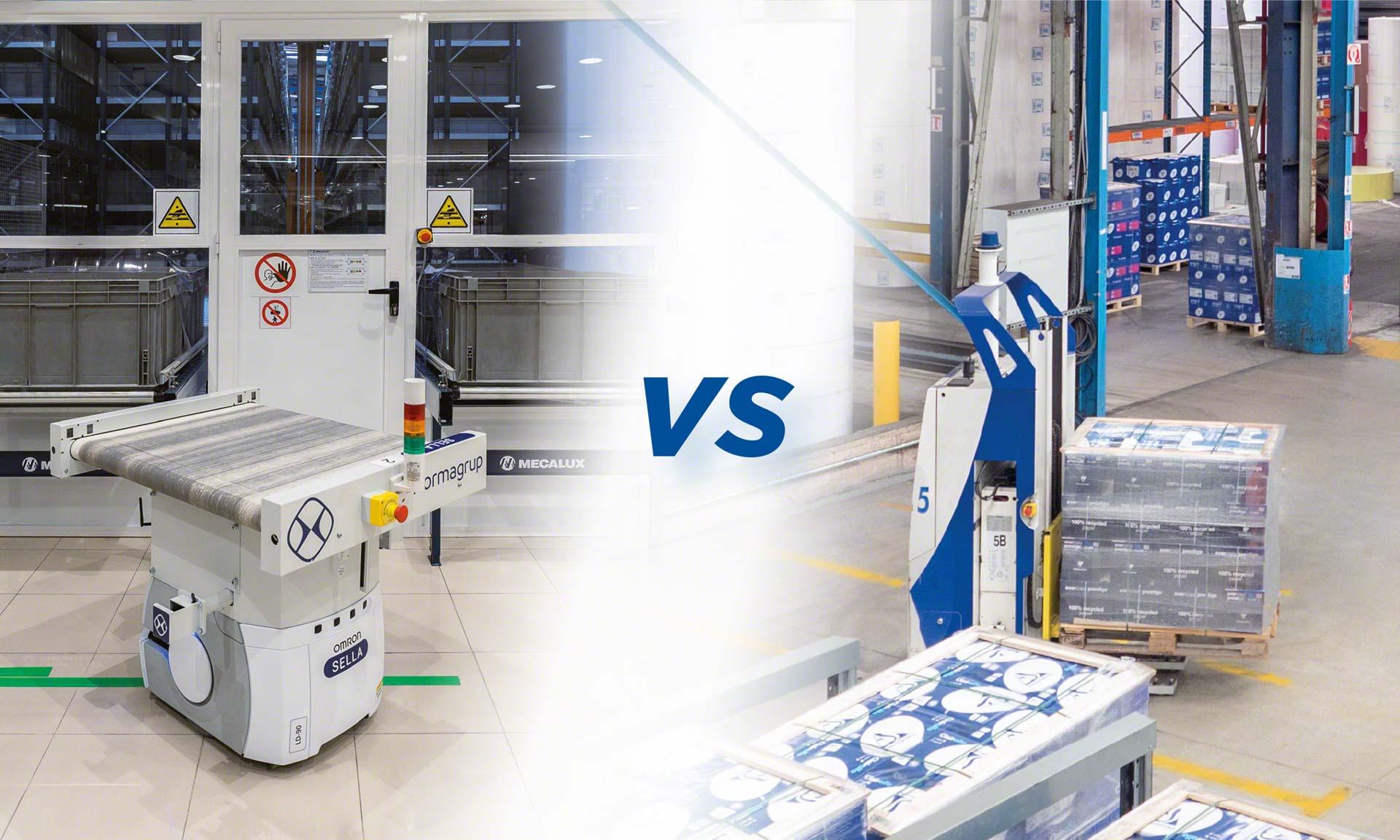 Sia gli AMR che gli AVG sono efficienti sistemi automatizzati di trasporto merce