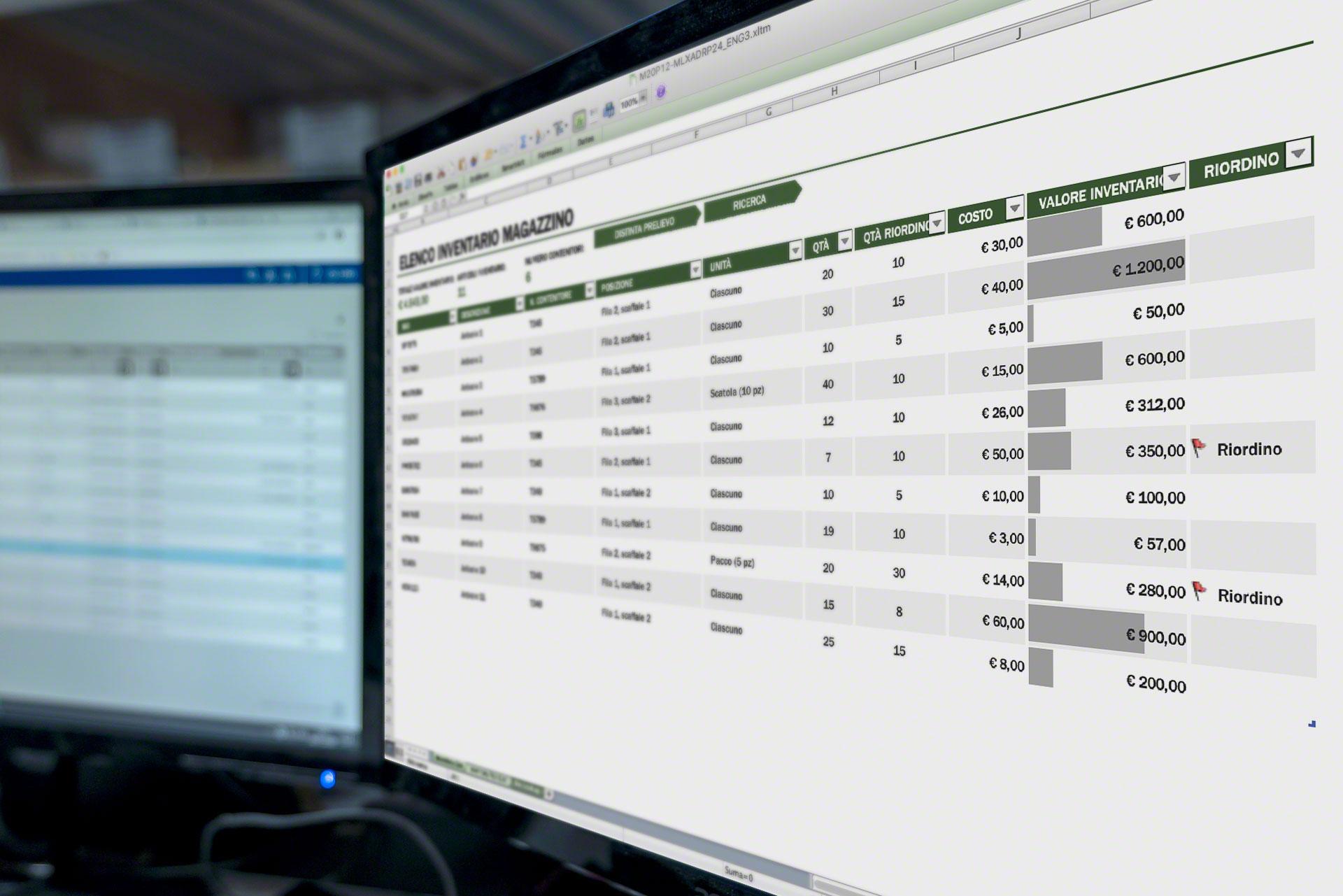 Numerose aziende utilizzano modelli Excel per l'inventario di magazzino