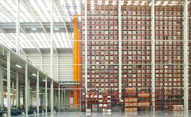 Il nuovo magazzino misura 7.000 m2 e ha una capacità di oltre 65.000 pallet