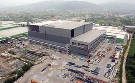 Per la struttura autoportante il magazzino autoportante di Hayat Kimya sono state impiegate 10.000 tonnellate di acciaio