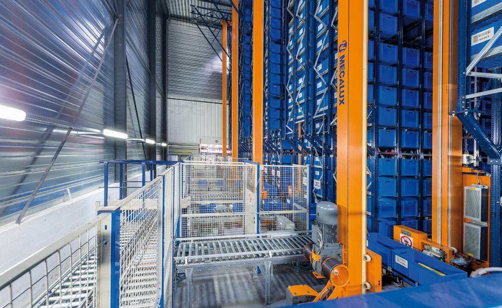 MGA installato un magazzino miniload dotato di quattro corsie con due scaffalature a doppia profondità