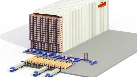 Mecalux costruisce un magazzino autoportante automatico progettato tenendo conto di futuri