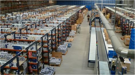Nuovo centro logistico di Cofan settorizzato in diverse aree e orientato al picking