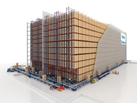 Ampliamento centro logistico con il magazzino in pieno funzionamento