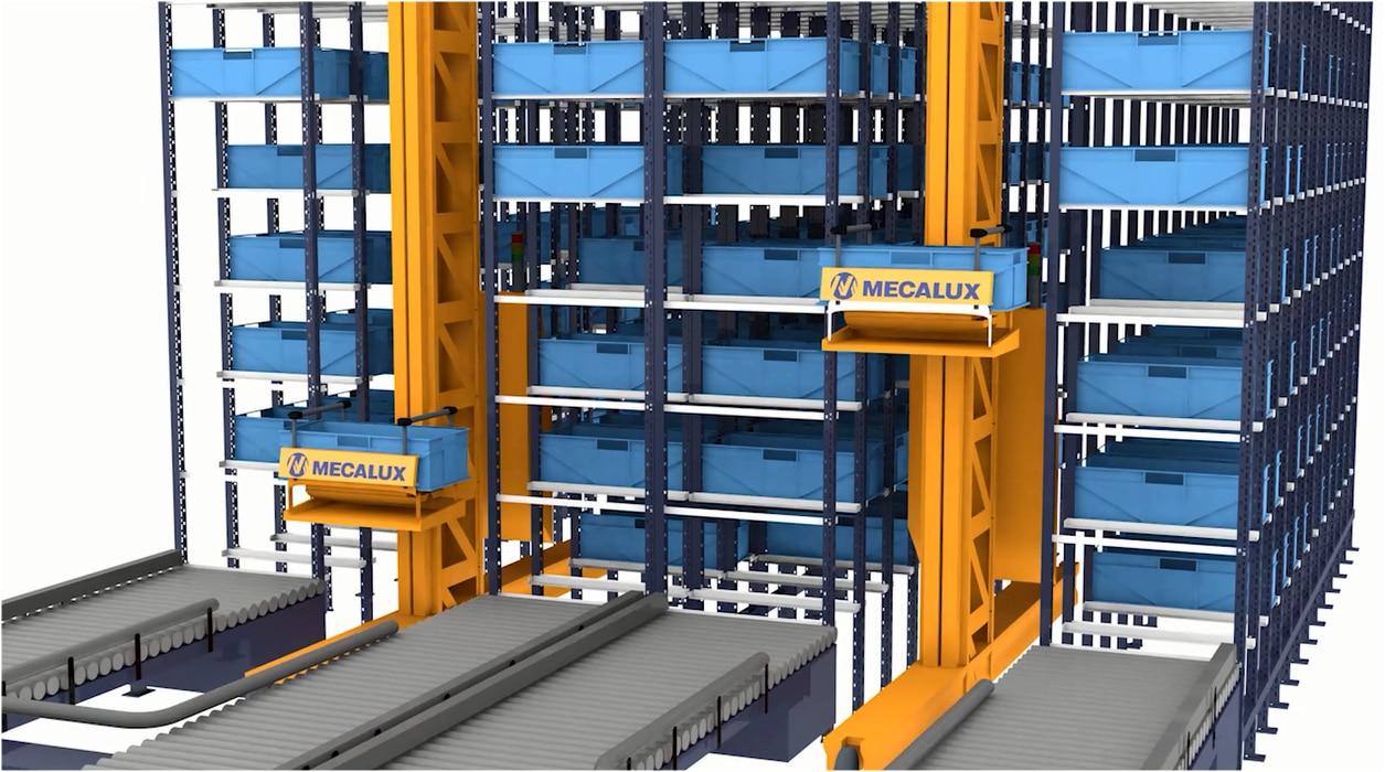 Trasloelevatori per contenitori Miniload