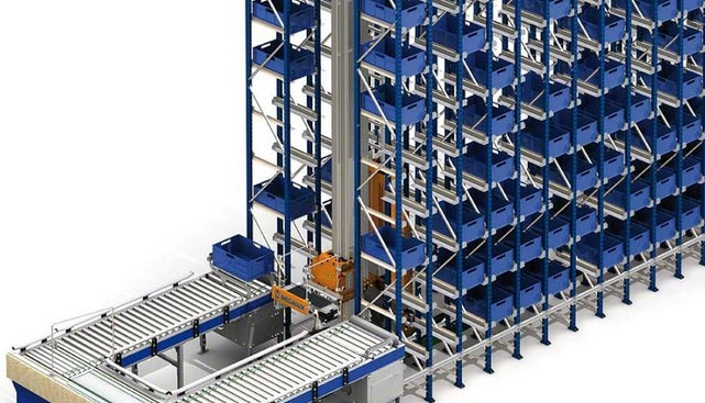 Il magazzino per contenitori di Project in Francia
