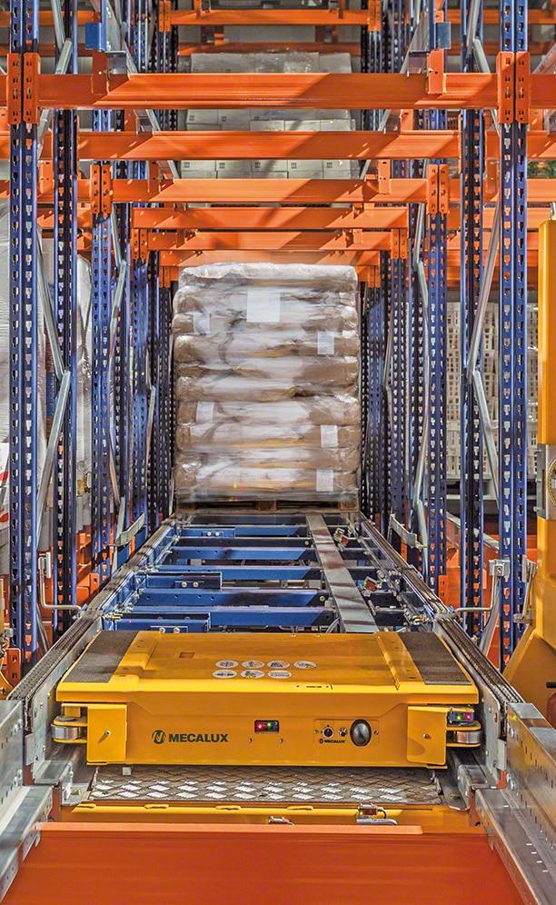 Scaffalature utilizzate per il Pallet Shuttle automatico di ANL