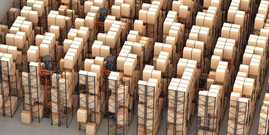 Il magazzino per pallet dell'operatore logistico Barsan in Belgio