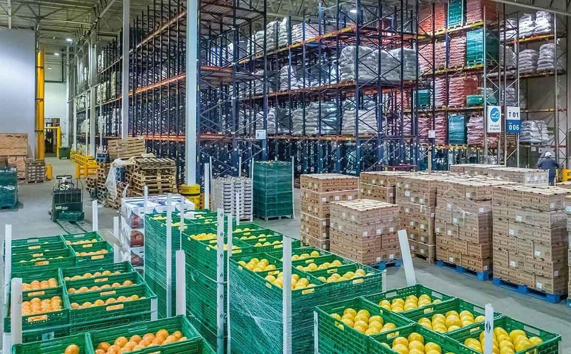 Magazzino in cui avviene lo stoccaggio di frutta fresca a temperatura controllata