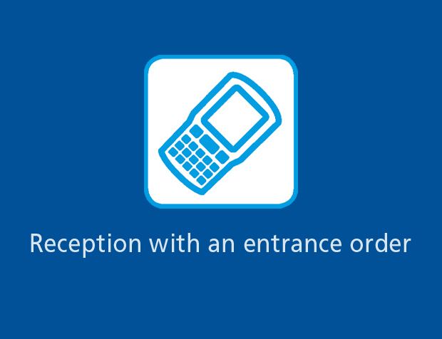 Reception with an entrance order