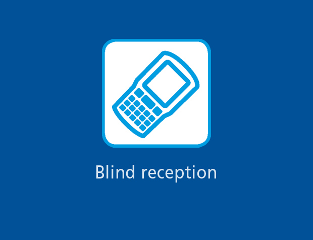 Blind reception