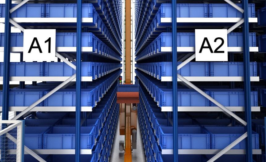 Magazzino automatico con capacità di oltre 7.000 contenitori di FPT