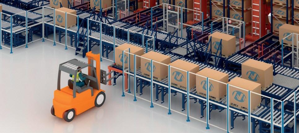 Automazione del processo logistico nel magazzino di IKEA Components