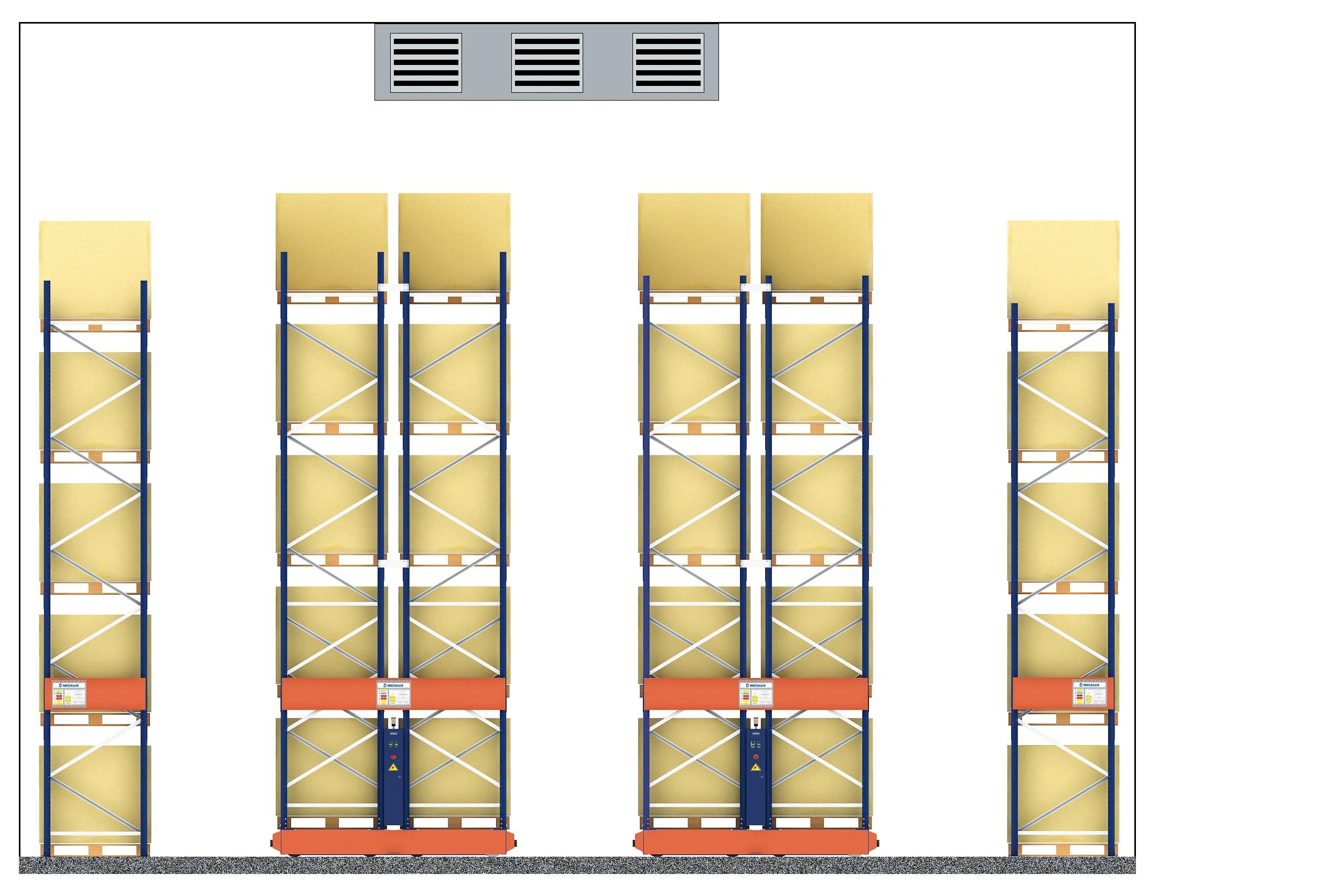 Euroambrosías sceglie le scaffalature Movirack per le sue due celle di congelamento