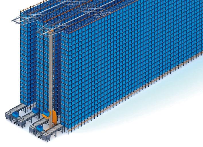 Magazzino automatico per contenitori e scaffalature portapallet di FIC