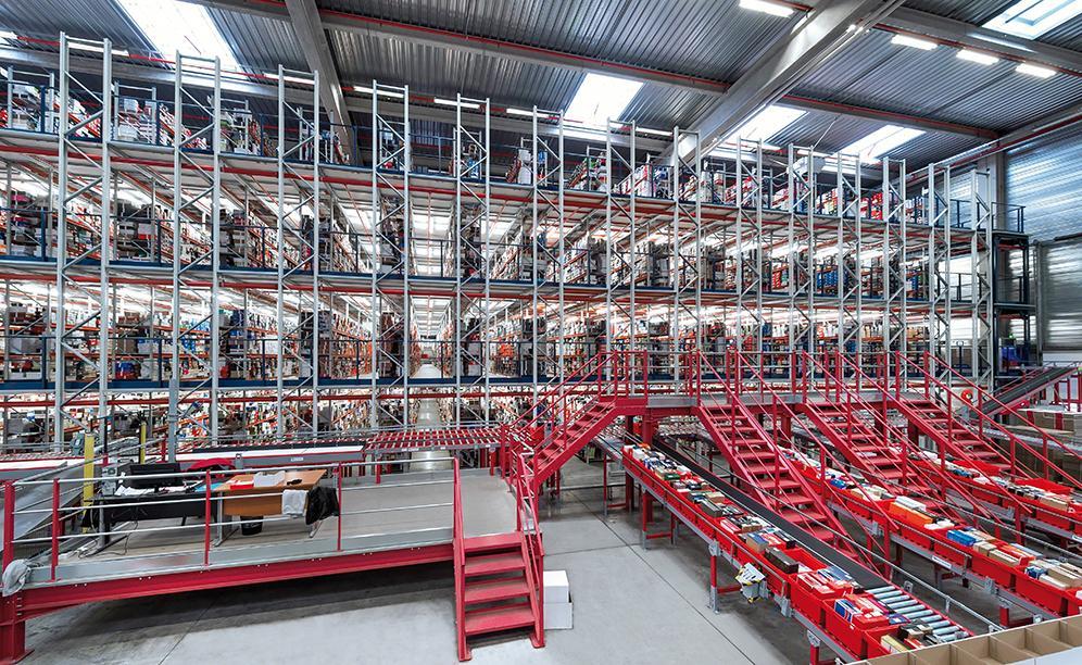 Spartoo: Un grande impianto di picking con rulliere per gestire la vendita online