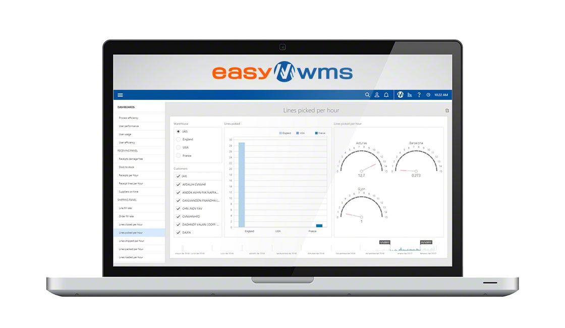 Easy WMS nella sua modalità SaaS si presenta con un'interfaccia intuitiva e facile da usare
