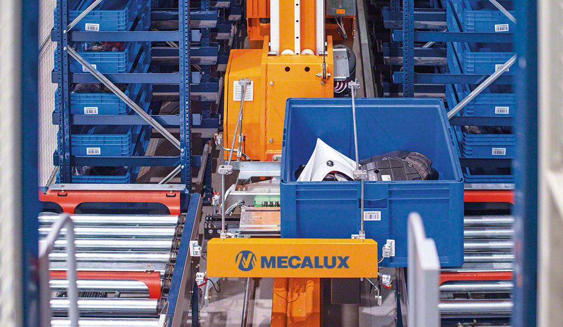Il magazzino automatico per contenitori è la soluzione ideale per gestire piccoli componenti