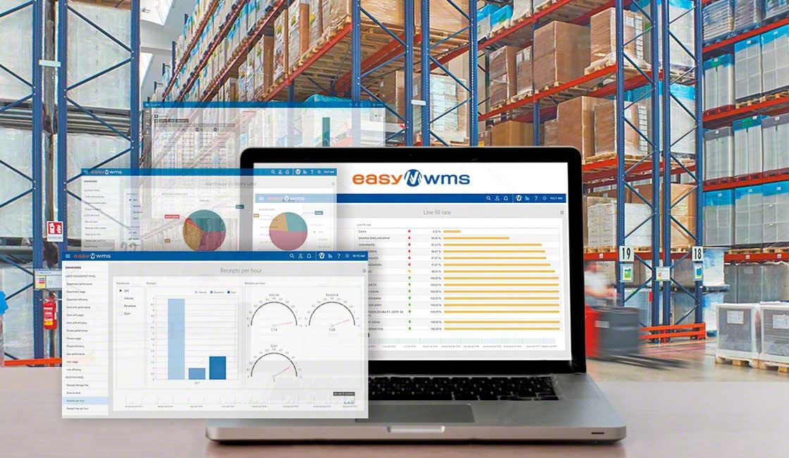 Il software Supply Chain Business Intelligence di Mecalux facilita la raccolta e l'organizzazione dei dati che si producono nel magazzino