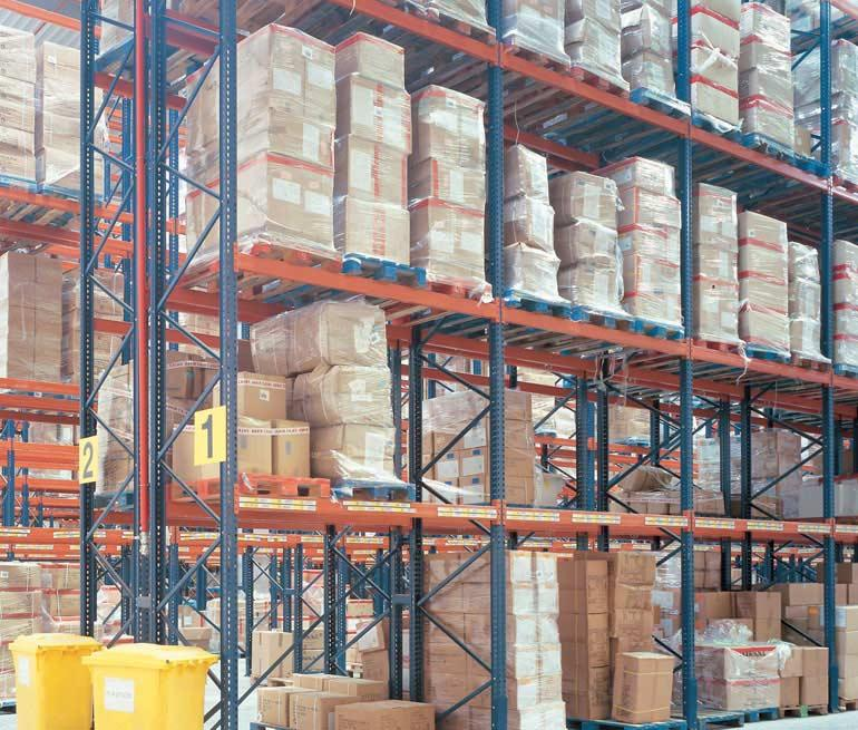 Logistics warehouse for the distribution of food products.